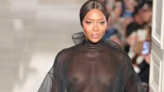 Naomi Campbell posed naked for Valentino