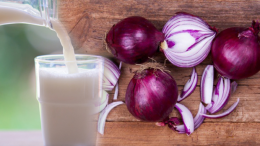 What are the benefits of purple onion? What happens if you mix purple onion with milk and drink it?